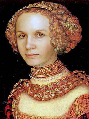 Женский портрет. Лукас Кранах Старший. защита от порчи, снятие порчи