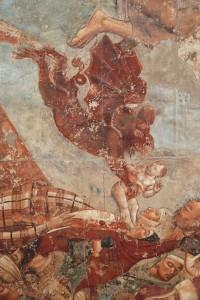 Демон выхватывает душу грешницы. фрагмент фрески, Кампосанто, Пиза