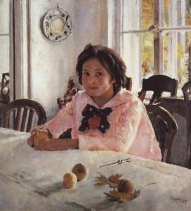 Девочка с персиками, Серов